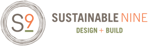 Sustainable 9 Design + Build company logo